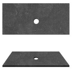 Hardsteen top paneel natuursteen wasblad voor waskom 100x47x3cm