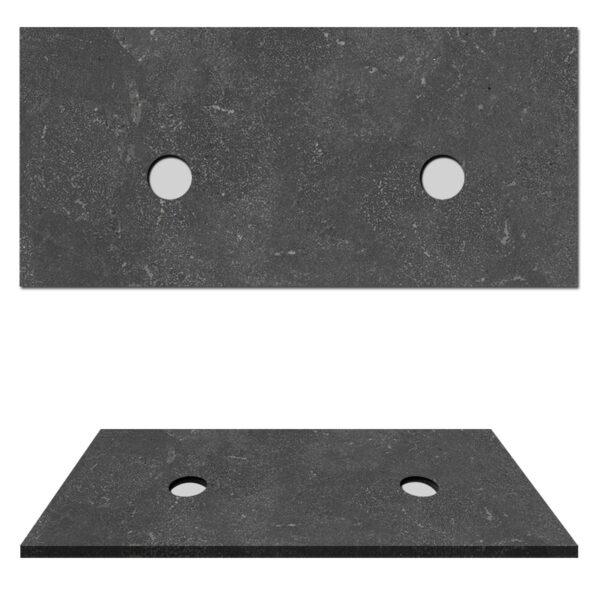 Hardsteen top paneel natuursteen wasblad voor waskom 120x47x3cm