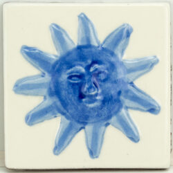 Portugese / Marokkaanse Decor tegels zon blauw