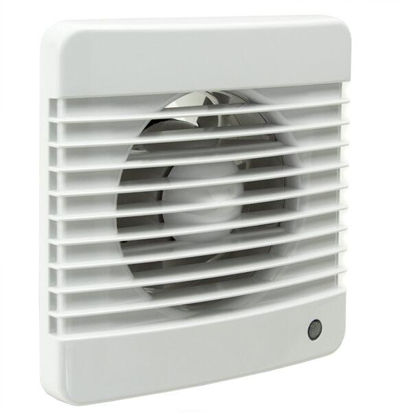 Badkamer ventilator basic voor 100mm lucht afvoer kanaal 98 kuub per uur