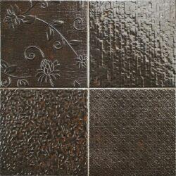 Wandtegels koper Glint antracite 44,2 x 44,2 cm