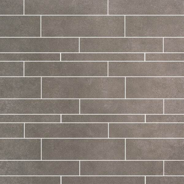 Strokenmix tegels 5, 10 en 15x60 betonlook Taupe anti slip R10