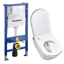 Geberit inbouwreservoir met douche wc complete set