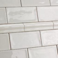 Keramische sierstrips als afwerkrand voor handvorm tegels div kleuren