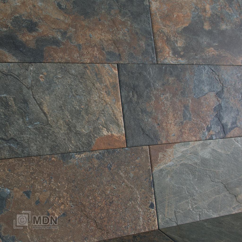 Noorse Leisteen Natuursteen Look Keramische Tegels 30x60 Megadump