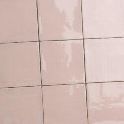 Roze handvorm tegels 13x13 cm