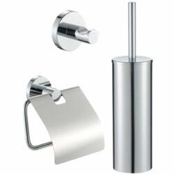 Toiletset chroom toiletborstel houder toiletrol houder en handdoek haak