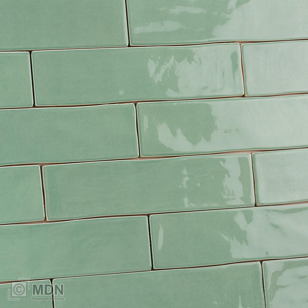 Handvorm Wandtegels 7 5x30 Jade Groen Megadump