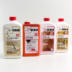 Compleet onderhoud pakket voor portugese cement tegels en cotto