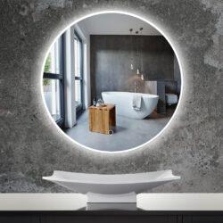 Ronde spiegel met dimbare led verlichting in 60 of 80 cm