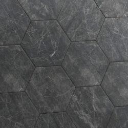 Hexagon tegels zwart vloertegels voor intensief gebruik