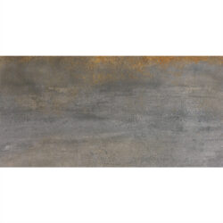 Metallic silver vloertegels 30x60 roestlook